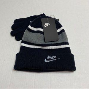 Nike Boys Beanie & Gloves 2 piece set